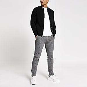 Veste-chemise noire en maillezippée