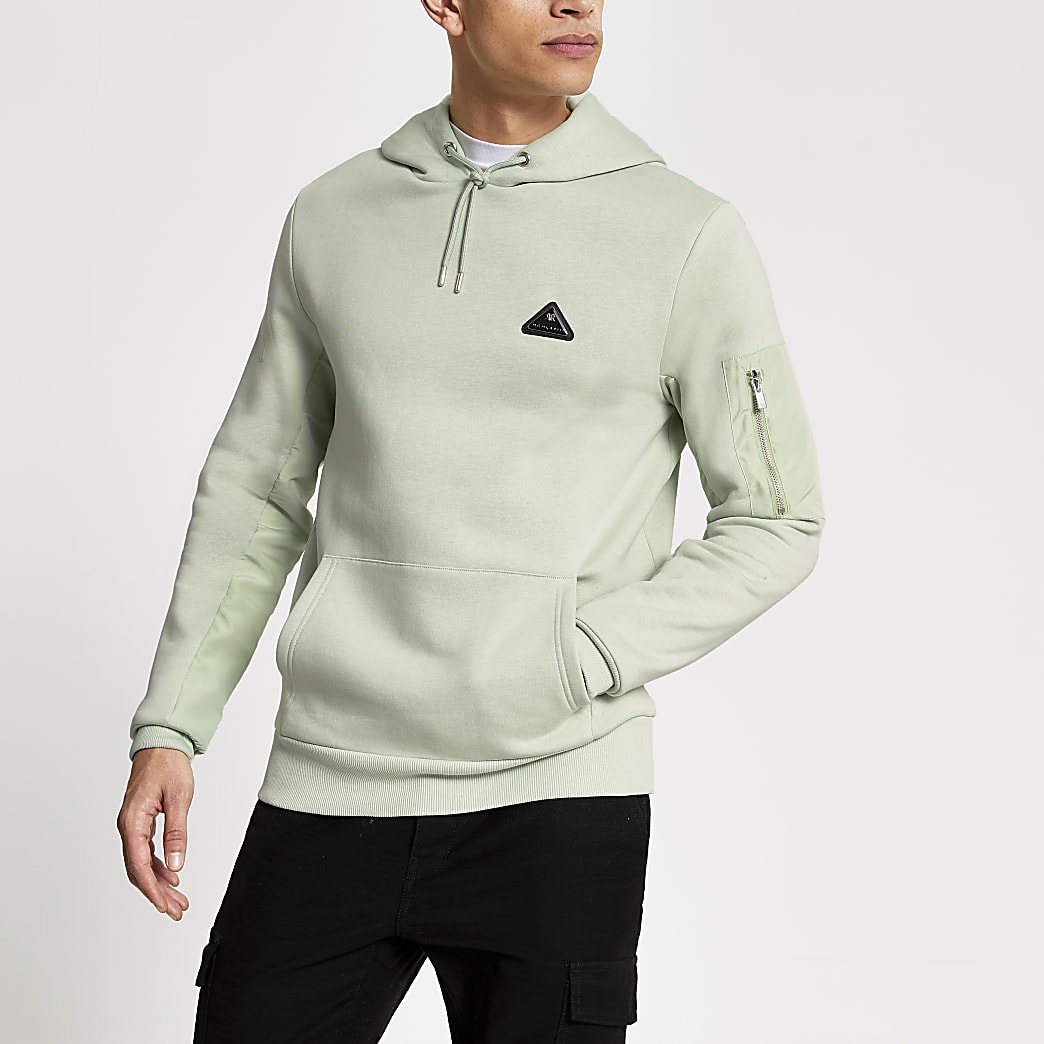 MCMLX light green slim fit hoodie