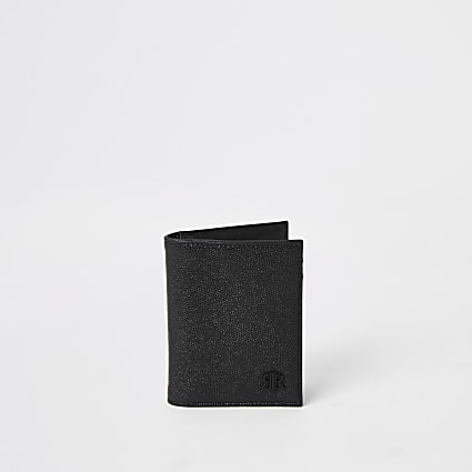 Black textured RIR fold out wallet
