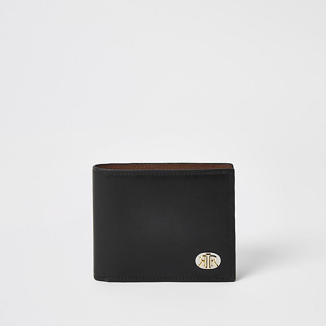 Portefeuille RIR en cuir noir
