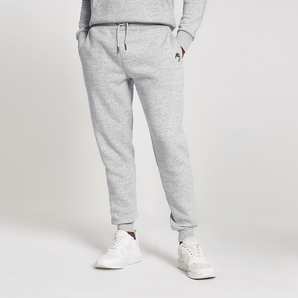 Maison Riviera grey slim fit joggers