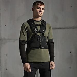 Concept– Khaki T-Shirt mit Kompass im SlimFit