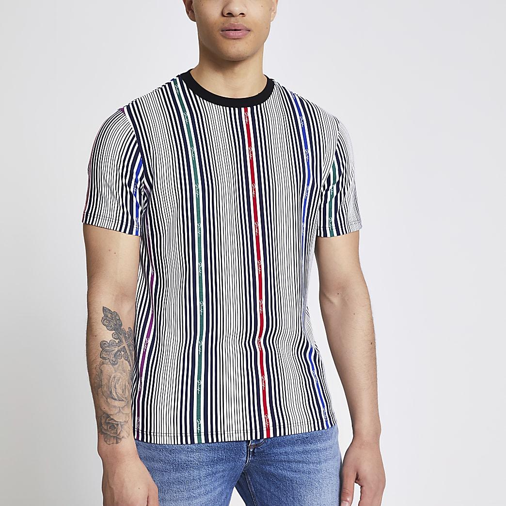 Prolific white stripe slim fit T-shirt