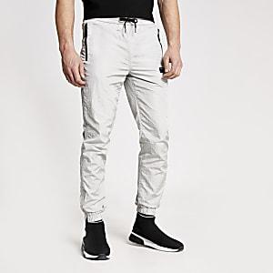 Concept– Ryan– Pantalons de jogging argentés en nylon
