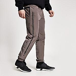 Concept– Ryan– Pantalons de jogging violets en nylon
