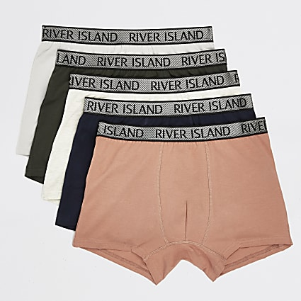 Coral RI metallic waistband trunks 5 pack