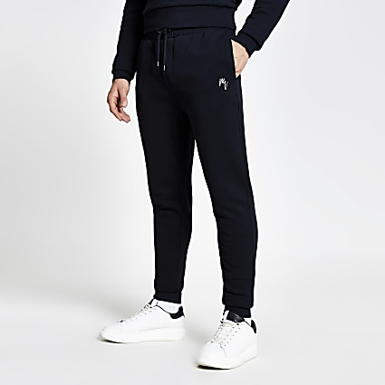 Maison Riviera navy slim fit joggers