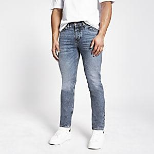 Mittelblaue, authentische Dylan-Jeans im Slim Fit