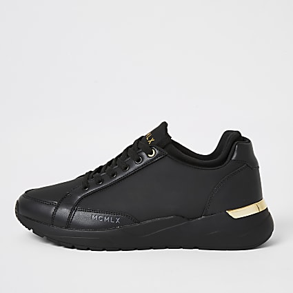 MCMLX black sock ankle runner trainers