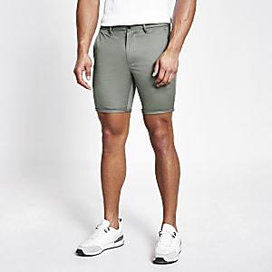 Short chino skinny vert clair