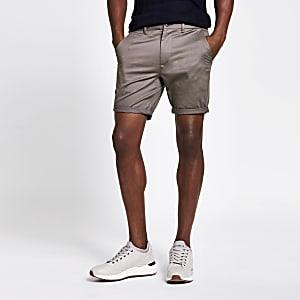 Vaal-paarse skinnychino shorts