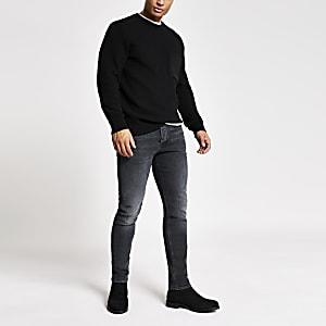 Dylan – Slim Fit Jeans in Schwarz mit Waschung