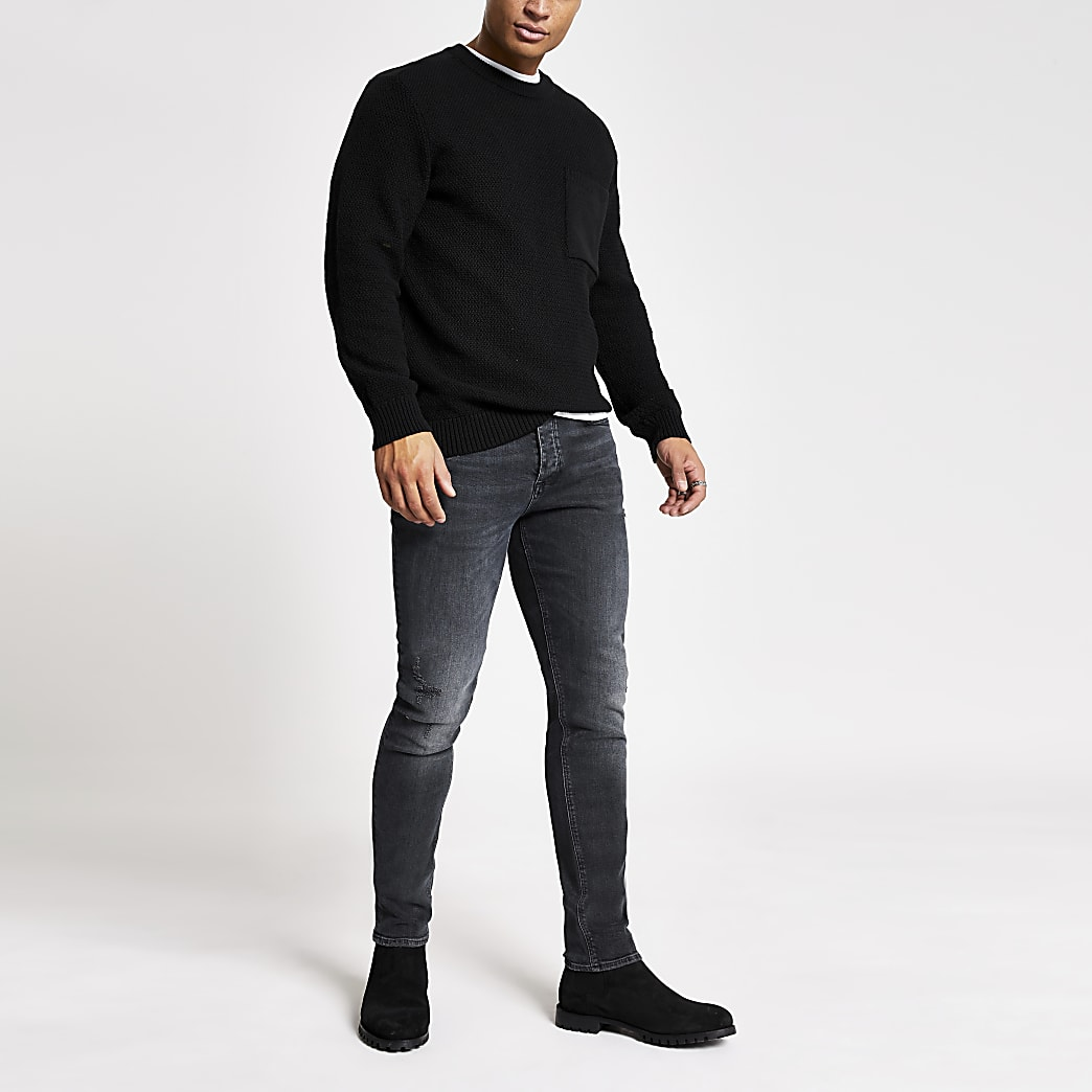 Zwarte washed slim-fit Dylan jeans