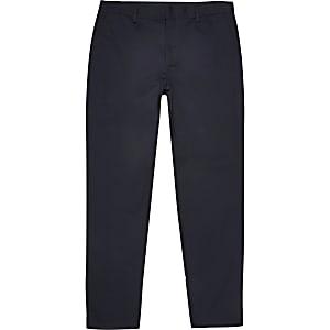 Big & Tall – Marineblaue Slim Fit Chino-Hose