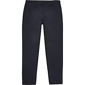 RI Big and Tall - Marineblauwe slim-fit chino