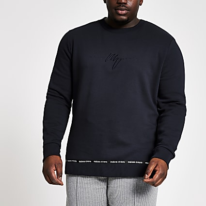 Big and tall navy Maison slim fit sweatshirt