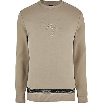 Big and tall stone Maison slim fit sweatshirt