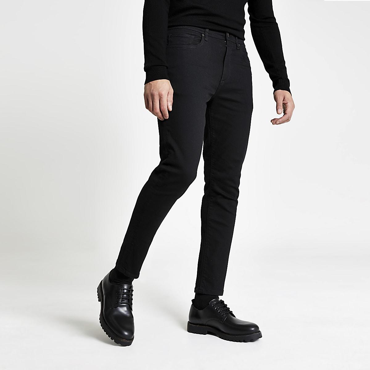 Black wash Jimmy tapered leg jeans
