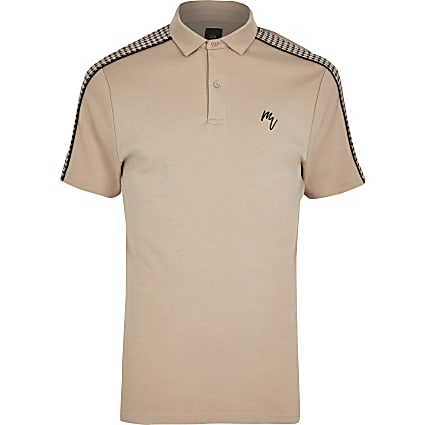 Big and Tall Maison Riviera slim polo shirt