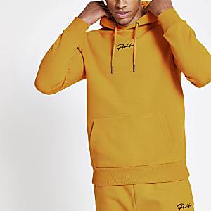 Prolific - Gele slim-fit hoodie