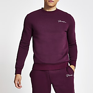 "Lila Sweatshirt ""Prolific"" im Slim Fit-Schnitt"