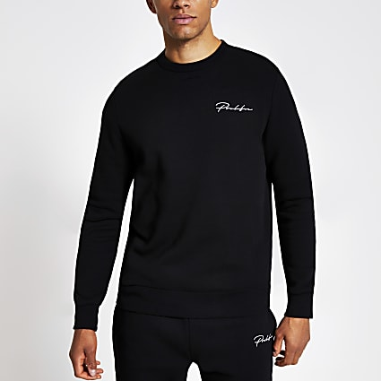 Black Prolific slim fit sweatshirt
