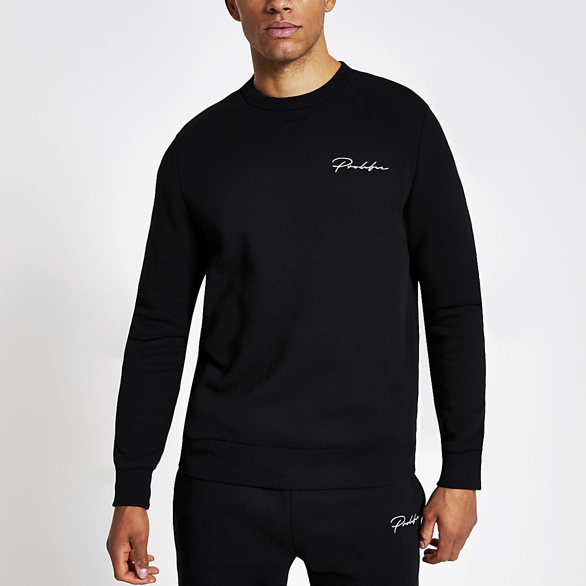 Black Prolific slim fit sweatshirt