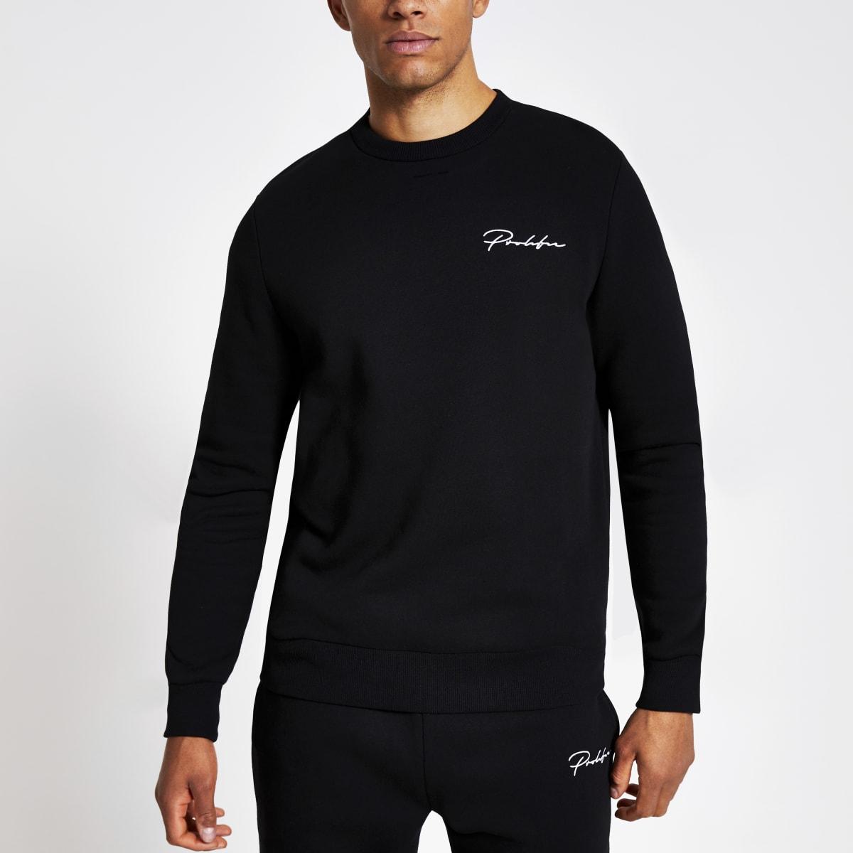 """Schwarzes Slim Fit Sweatshirt """"Prolific"""""""