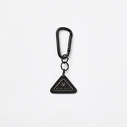 MCMLX black triangle badge keyring