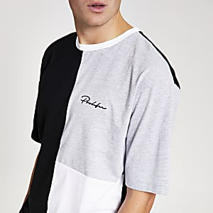 T-shirt Prolific blanc oversize colour block