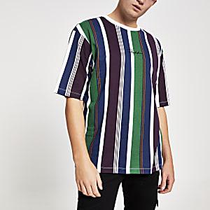 T-shirt Prolific blanc oversize à rayures