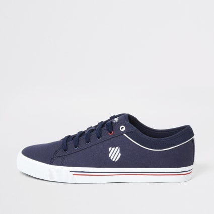 K-Swiss navy canvas lace-up trainers