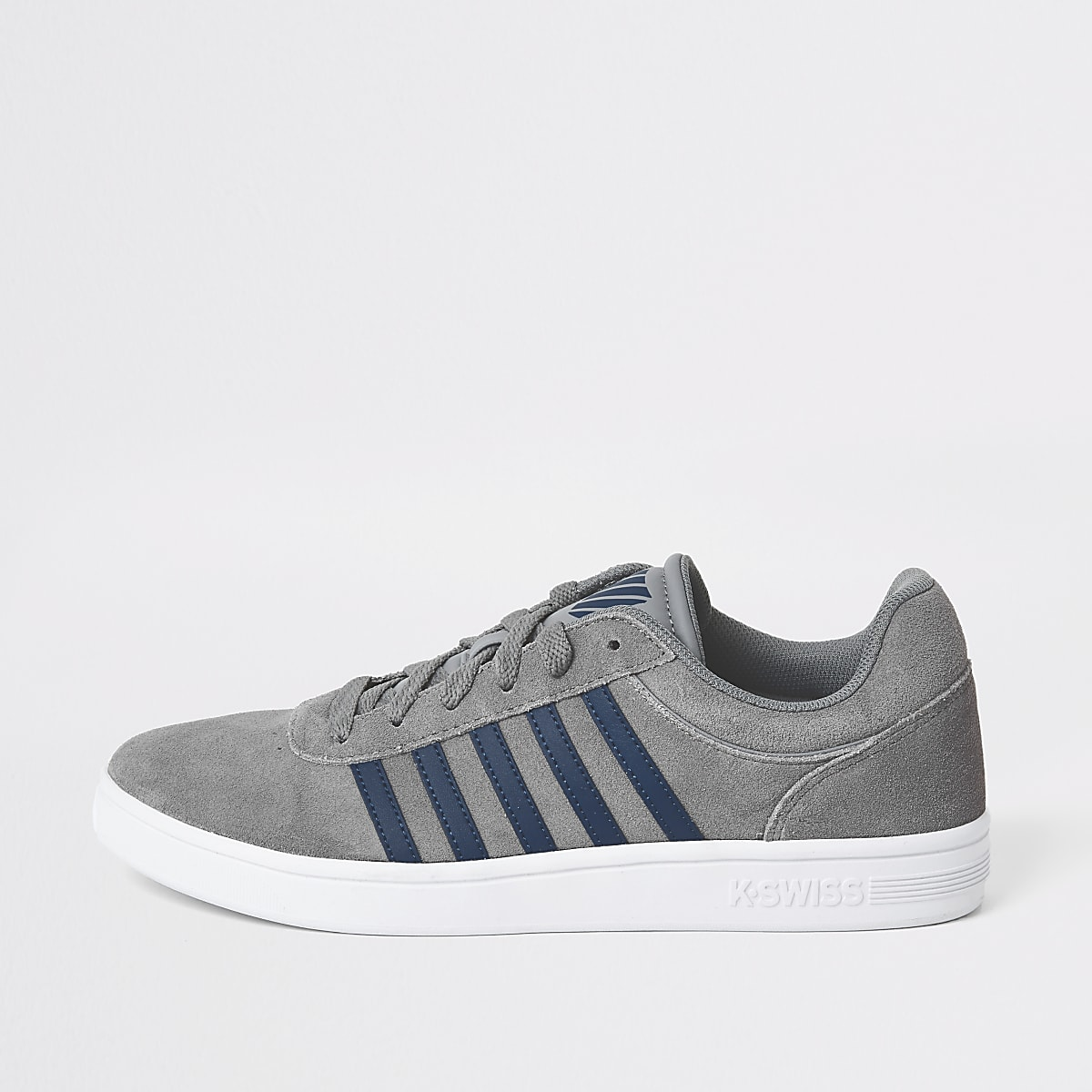 K-Swiss grey suede stripe side trainers