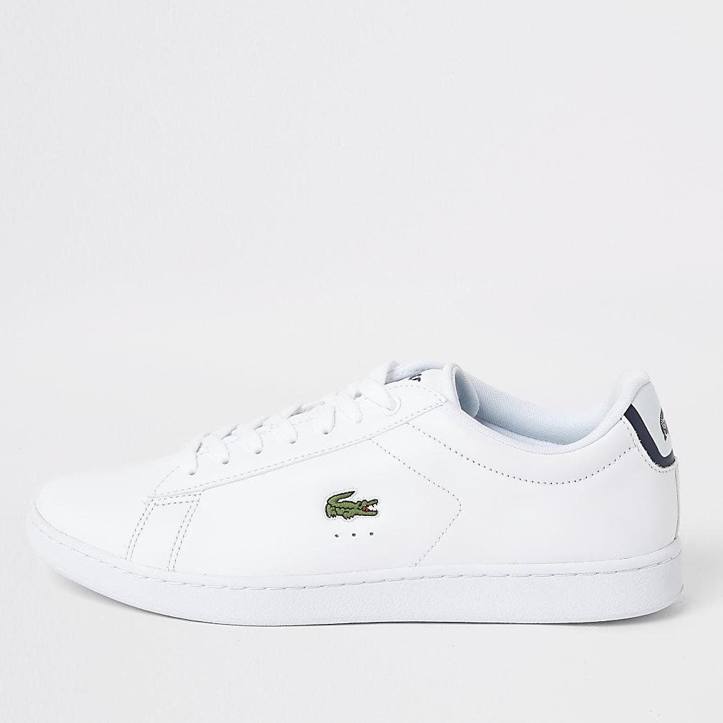 Lacoste – Baskets en cuir blanches à lacets