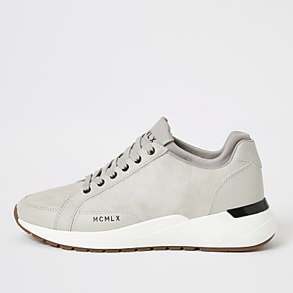 MCMLX ecru sock ankle runner trainers
