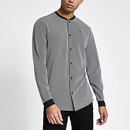 Maison Riviera grey regular baseball shirt