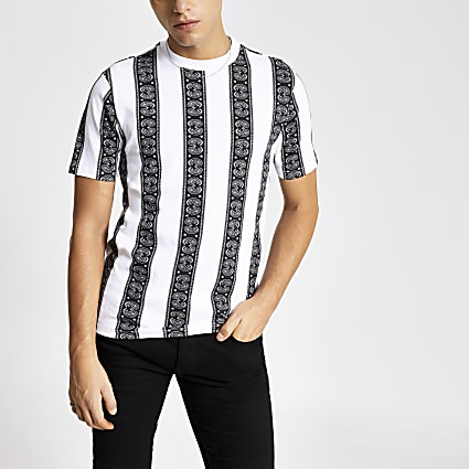 Smart Western stripe regular fit T-shirt