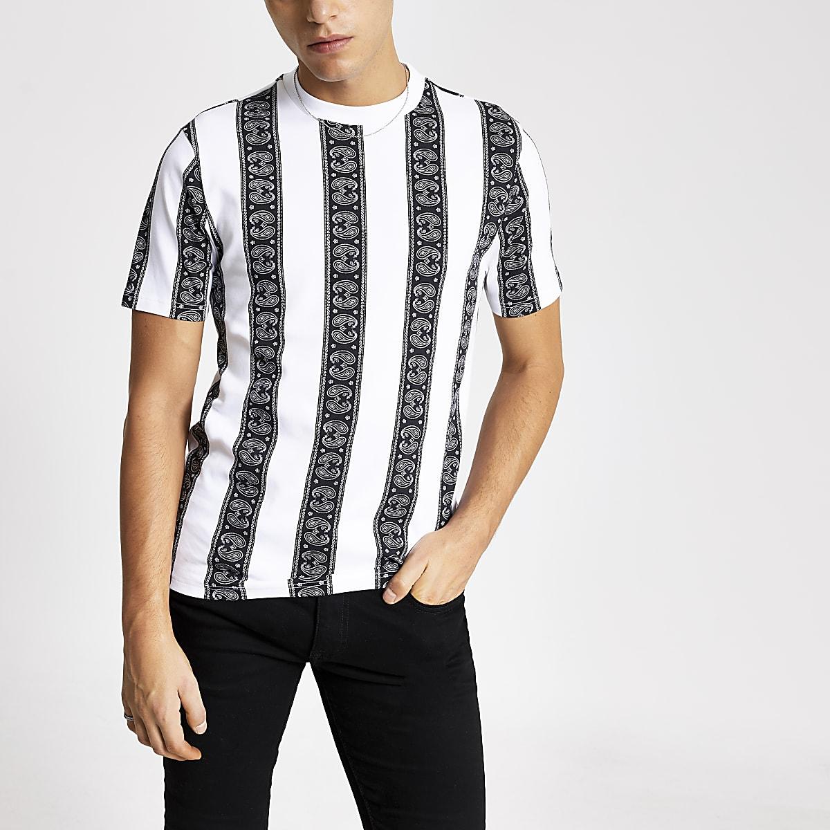 Smart Western stripe regular fit T-shirt
