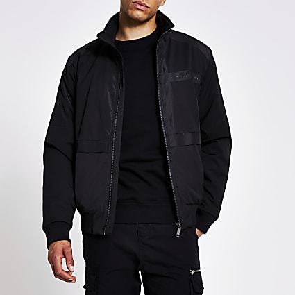 Maison Riviera black ripstop track jacket
