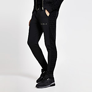 Pantalons de jogging MCMLVX slim noir avec empiècements en velours