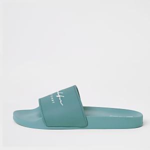 Prolific - Blauwe slippers met reliëf