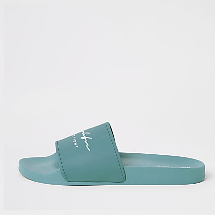 Prolific blue embossed sliders