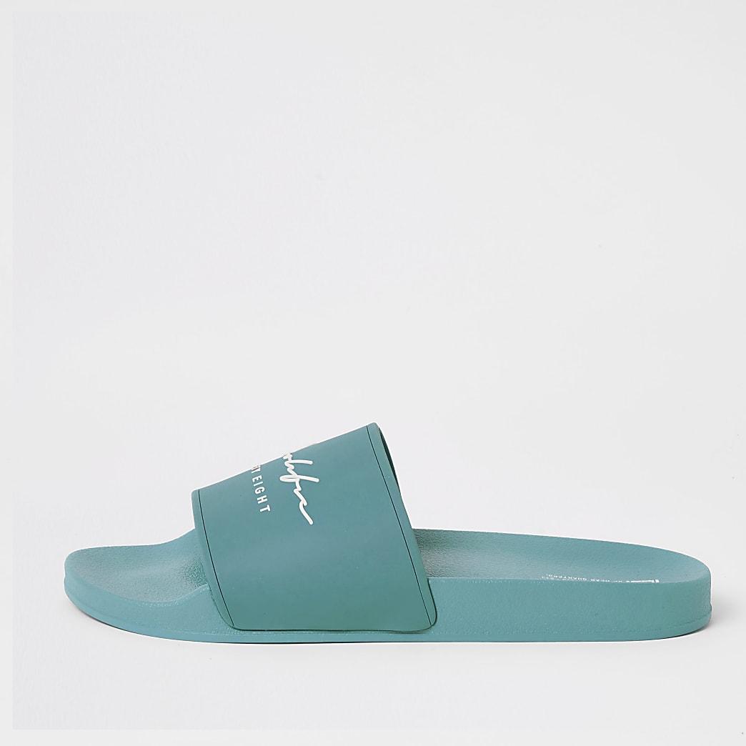 Prolific blue embossed sliders