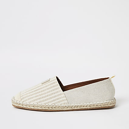 Maison stone stripe espadrille shoes