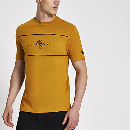 Maison Riviera brown slim fit T-shirt