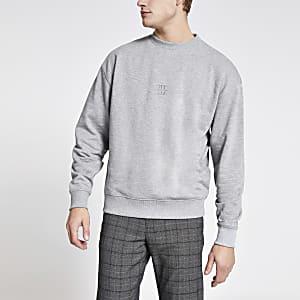 Maison Riviera - Grijze sweater met boxy pasvorm