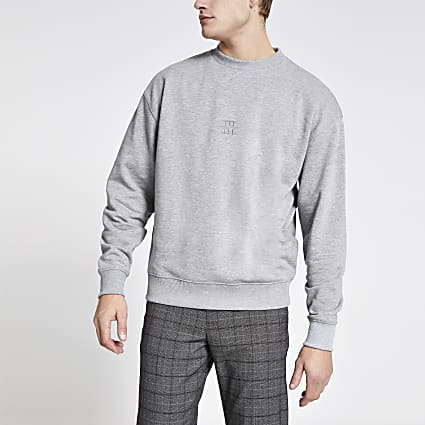 Maison Riviera grey boxy fit sweatshirt