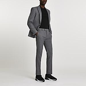 Pantalon de costume skinny gris