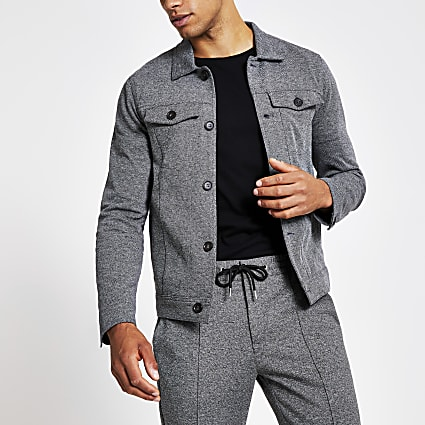 Grey western skinny fit jacket