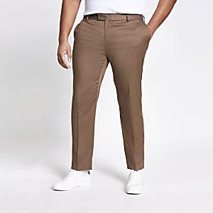 Big and Tall - Beige pantalon